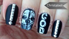 ChristabellNails COD Ghosts (Call of Duty) Nail Art Tutorial