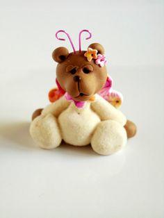 Polymer clay miniatur bear by natbears on Etsy, $16.00