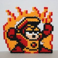 Heat Man - Mega Man 2 perler beads by Jen's Perler Creations
