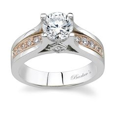 Barkev's Two Tone Engagement Ring - 7173LW
