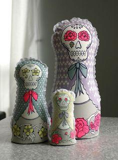 soft sculpture dolls: by beside herself