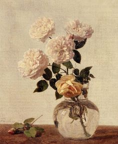 1883 Roses oil on canvas Private Collection