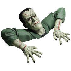 Universal Monsters Grave Walkers and Karloff Frankenstein Mask eBay ❤ liked on Polyvore featuring halloween, holidays, frankenstein and monsters