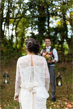 Headband Fil d'Epices Autumn bride    Image by Regard Photographique, see more http://goo.gl/UlHtR9