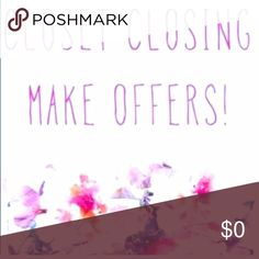 CLOSING CLOSET 12/2/17---- BUY NOW! Closing closet, make a bundle, offer, and save. 12/2/17 all items not sold are going to be donated. Please buy now. Jackets & Coats