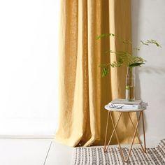 Un rideau en lin jaune ocre, Cyrillus