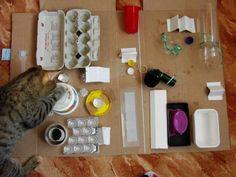 Comedero para Perros Y Gatos Comedero para Perros Dispensador De Alimentos Juguete para Gatos LQNB Juguetes para Gatos Juguete para Gatos Interactivo