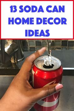 If you've got soda cans lying around, you're going to want to try one of these. Upcycled Crafts, Recycled Cans, Easy Crafts, Adult Crafts, Kid Crafts, Easy Diy, Diy Projects To Try, Craft Projects, Craft Ideas