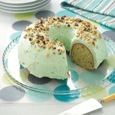 Pistachio Pudding Cake Recipe from Taste of Home