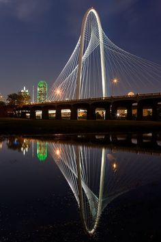 Reflections of the Margaret Hunt Hill Bridge.  © Clark Crenshaw Photography