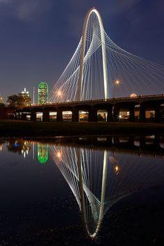 Reflections of the Margaret Hunt Hill Bridge.  © Clark Crenshaw Photography