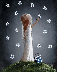 Whimsical Paintings Painting by Shawna Erback
