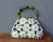 Orinuno Daisy Bag - Handfolded e fiori cuciti