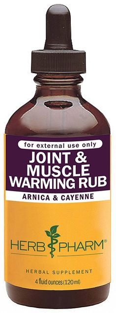 Herb Pharm Joint and Muscle Warming Rub with Cayenne Extract - 4 Ounce *** Quickly view this special  product, click the image : Herbal Supplements