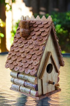 Birdhouse Chalet style by CarefullyCorked on Etsy, $44.95