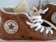 I'm not really into Converse, but these brown, suede, shearling-lined sneakers are pretty cool.