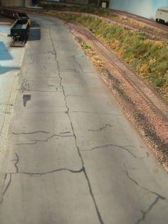 Tips on building and weathering roads #modeltrains #hobbytrains #modeltraintips