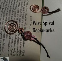 Free Pattern! Beaded Spiral Wire Bookmarks
