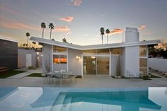 The Butterfly House // Palm Springs - midcentury - exterior - los angeles - Planet Home Living
