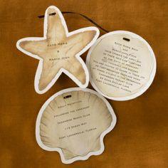Sea Shells - Invitation | Quaint Wedding Stationery & Accessories