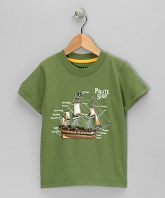 Take a look at this Green 'Pirate Ship' Tee - Infant & Toddler by S.P.UDZ on #zulily today!