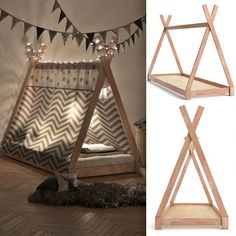 Teepee Tent Bed Frame Wooden Children Cabin Bed Kids Sigle Bed Tipi Bedstead New. Teepee Tent Bed Frame Wooden Children Cabin Bed Kids Sigle Bed Tipi Bedstead New Baby Bedroom, Baby Boy Rooms, Baby Room Decor, Kids Bedroom, Tent Bedroom, Camping Bedroom, Kids Room Bed, Master Bedroom, Bedroom Decor
