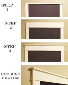 Chalkboard Frame or Craftsman style door casings...exactly what i needed to do to my doorways