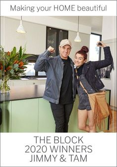 Jimmy and Tam walked away from The Block 2020 as winners with a cool $1,066.00.  House number 5, which was faithfully renovated in a Retro 1950s style, sold for a whopping $4.256, which was $966,000 above the reserve.  I must say that I am thrilled to see this outcome as they were the only contestants who steadfastly met the brief each week. Trade Secret, Contemporary Kitchen Design, 1950s Style, Really Love You, Number 5, House Numbers, 1950s Fashion, Retro Outfits, How To Plan