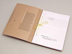 Yellow string as book binder