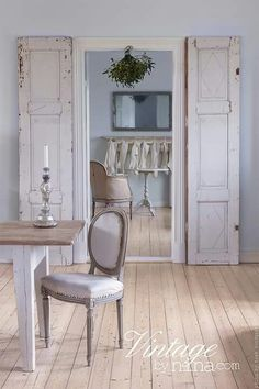 Gustavian period with classic painted furniture and walls in chalky white and greys. I love the simplicity of this room. A Scandinavian look and feel which is very popular today