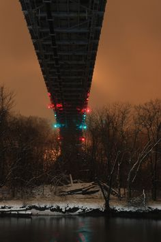 The (Kingston, NY) Wurts Street Bridge in the mist after a fresh snowfall. --   Feb. 29, 2012.