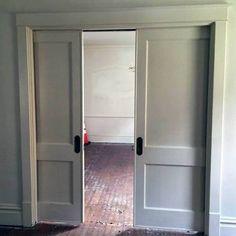 Good Ideas For Sliding Dining Room Pocket Door Double Pocket Door, Sliding Pocket Doors, Cavity Sliding Doors, Internal Doors, Pocket Door Handles, Pocket Door Hardware, Slider Door, Swinging Doors, Bedroom Doors