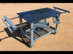 Building a Welding Table / Multifunctional workbench for the shipping container shop. I plan on using this welding table/workbench for more than just welding. Welding Bench, Welding Cart, Welding Jobs, Diy Welding, Welding Design, Metal Projects, Welding Projects, Welding Ideas, Diy Projects