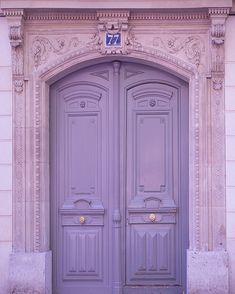 Paris Photography - Lavender Door, Architectural Home Decor, French Wall Decor. $30.00, via Etsy.