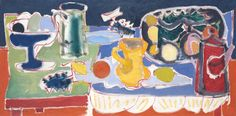 "Patrick Heron, ""The Long Table With Fruit"", 1949"