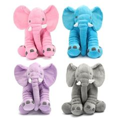 These adorable soft plush elephant stuffed animals make a wonderful baby shower gift, photo shoot prop, and just a fun cuddle for little one's. Please keep in mind safety for newborns-babies, they sho