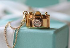 omg want!! Tiffany & Co. camera pendant necklace