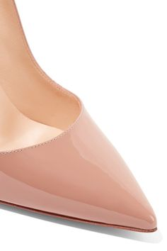 Christian Louboutin - So Kate 120 Patent-leather Pumps - Beige - IT35.5