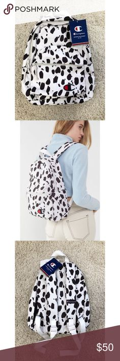 8d6d4c79e4d3 Champion & UO Animal Print Mini Backpack Stow your stuff in style using  this durable Champion