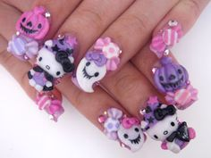 pink & purple hello kitty halloween