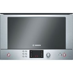 Bosch HMT85GL53B integrated microwave oven and grill offers top quality and design at an affordable price. Featuring practical functions and low energy consumption, the Bosch HMT84G651B brushed steel microwave oven is a great choice for any modern kitchen. | K014255