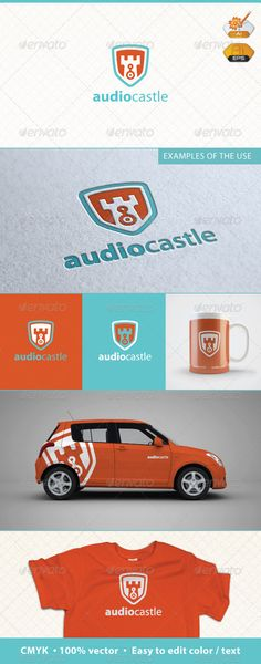 Audio Castle Logo Template