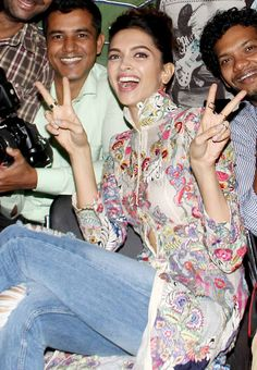 Deepika Padukone celebrating the success of #Tamasha's music. #Bollywood #Fashion #Style #Beauty #Hot #Happy