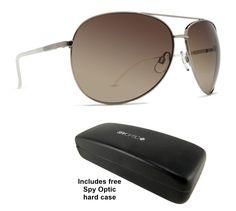 4d9871359c Dot Dash Nookie Silver Aviator Wrap Round Sunglasses + Spy Case Msrp 52  Round Sunglasses