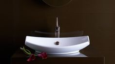 Curved Rectangular Above the Counter Sink Bowl