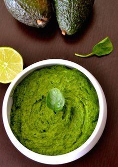 Super Green Spinach, Avocado and Basil Raw Pesto #justeatrealfood #creativeandhealthyfunfood