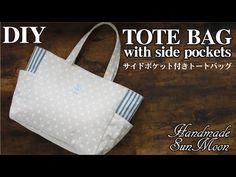 Diy Tote Bag, Reusable Tote Bags, Sewing Tutorials, Sewing Diy, Handmade Bags, Bago, Amalia Rodriguez, Stitch, Pocket