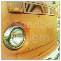 Tangerine VW bus #SandbarDesigns #VWBus #VW #BusPics #Volkswagen #BusyDreamin.com