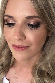 UK's Top 50 Wedding Make-Up Artists 2019 - Smokey eye wedding makeup | Bronze eye makeup | Gold eye shadow #weddingmakeup #goldeyeshadow #bronzeeyemakeup #tanned