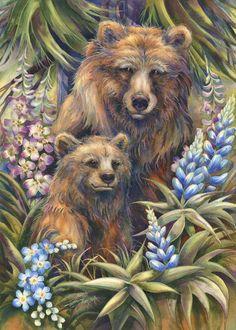 Bergsma Gallery Press::Paintings::Originals::Original Watercolor::2015/'Grin and Bear It' - Original Painting